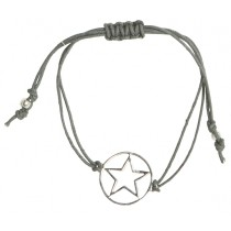 """house doctor Armband Stern """"Star"""" Baumwolle Sterling Silber"""